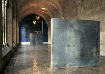 Richard Serra's Stacks consisting of two rectangular steel masses