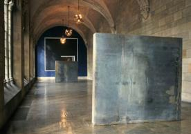 Richard Serra's Stacks consisting of two rectangular steel masses