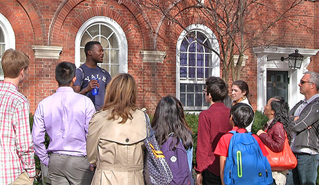 Students compete to share their love of Yale as campus tour guides